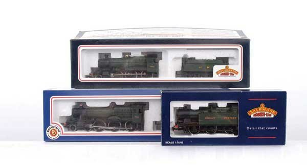 3018: Bachmann - 3 x GWR Green Steam Locos