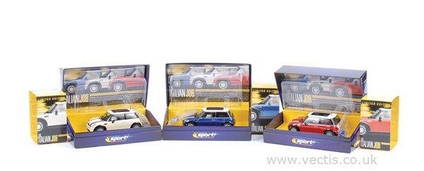 1004: Scalextric The Italian Job New Mini Cooper x 3