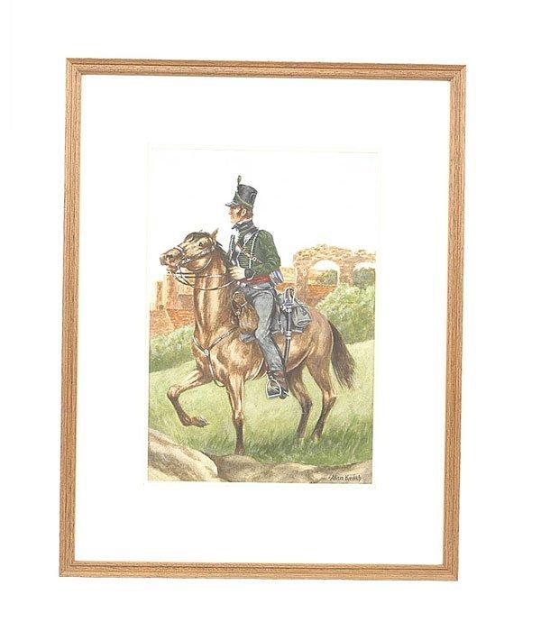 3003: Alan Kemp-Acrylic Painting-95th Rifles, 1815