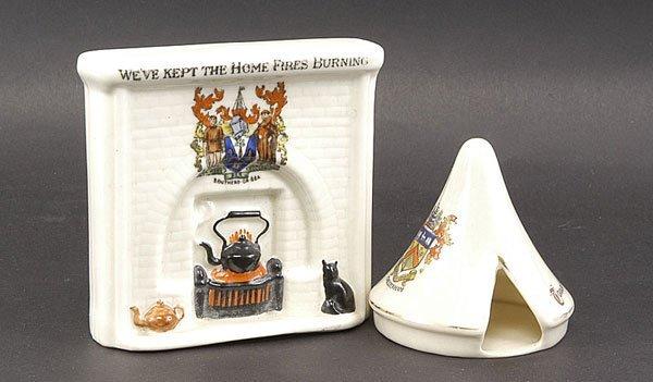 3019: Ceramics-Arcadian, Goss Etc - WW1 Crested China