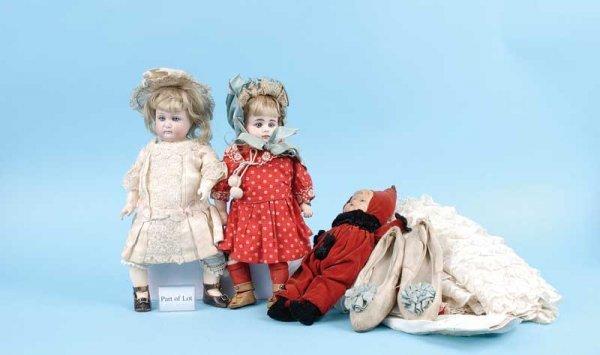3494: A Pair of German Bisque Dolls