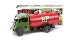 "1215: Minic No.15M Post-war Petrol Tanker ""BP"""