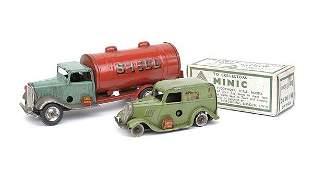 1256: Minic No.15M Petrol Tanker/Ford Light Van