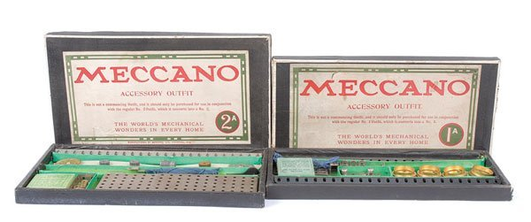 4008: Meccano c.1917/18 Nickel 1A and No.2A Outfit