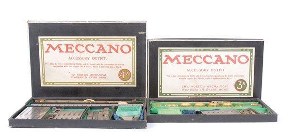 4009: Meccano c.1920 No.3A & 4A Nickel Sets