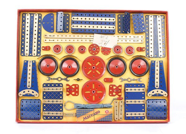 4012: Meccano No.4 Blue and Gold Set