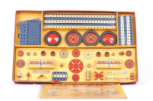 4020: French Meccano No.7A Outfit in Blue and Gold