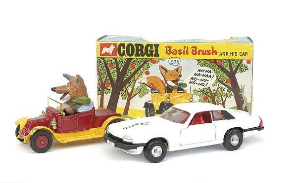 1519: Corgi No.808 Basil Brush Car & Saints Jaguar XJS
