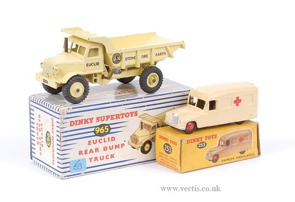 2002: Dinky Euclid Dump Truck and Ambulance