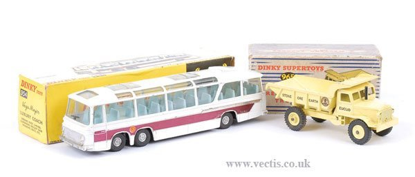 2014: Dinky Luxury Coach and Euclid Dumper