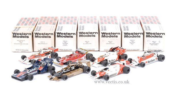 2488: Western Models - A Group of Racing Cars
