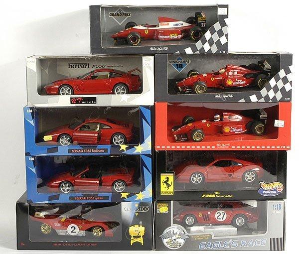 3024: A Group of Ferrari Formula 1 Models