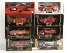 3025: Bburago - A Group of 1/18th scale Ferraris