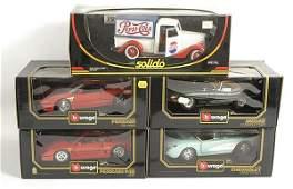 3059: Bburago & Solido - A Group of 1/18th Models