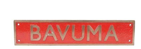 "4461: Railway Nameplate ""Bavuma"""