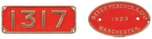 4462: A Pair of Cast Brass Railway Plates