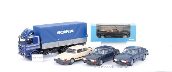 10: Large Scale Saab Car and Truck Models