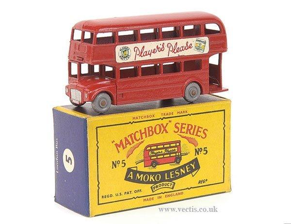 """1004: Matchbox No.5c London Bus """"Players Please"""""""