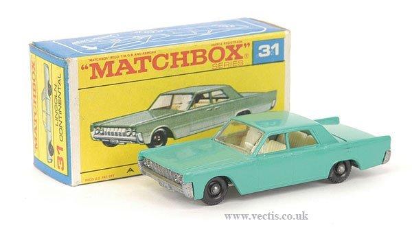 1007: Matchbox No.31c Lincoln Continental