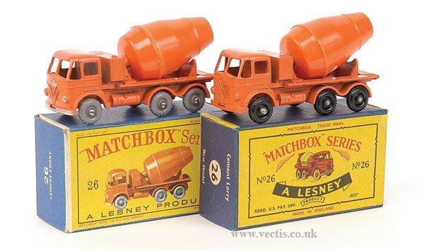 1008: Matchbox No.26b Foden Cement Mixer x 2