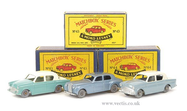 1010: Matchbox No.43a Hillman Minx & Others