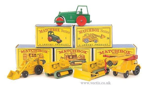 1013: Matchbox Regular Wheels Construction Vehicles