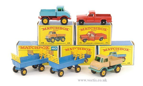 1023: Matchbox No.40c Hay Trailer & Others