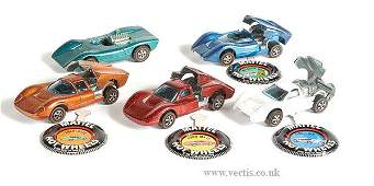 1717: Hot Wheels Redline - A Group of 5 x Racing Cars