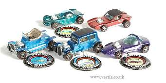 1718: Hot Wheels Redline - A Group of 5 x Hot Rods