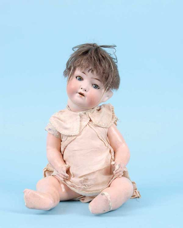 3023: Ernst Heubach Bisque Character Baby Doll, German