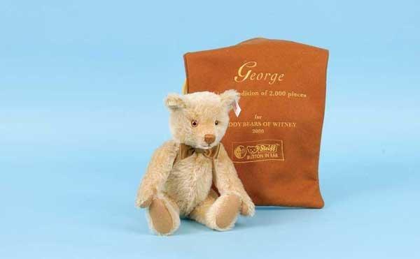 3151: Steiff George Teddy Bear, 2000, White Tag 654749