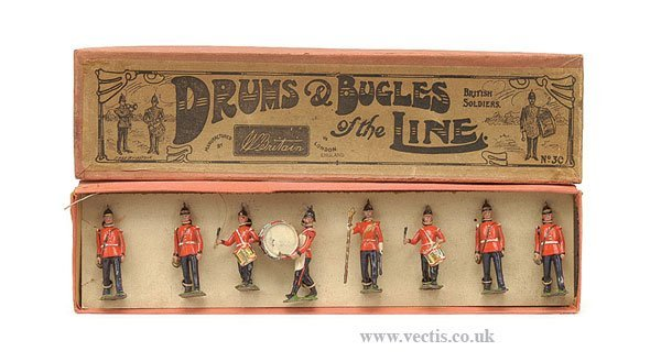 18: Britains-Set 30-Drums and Bugles of the line
