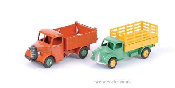 1716: Dinky Bedford End Tipper & Dodge Produce Lorry