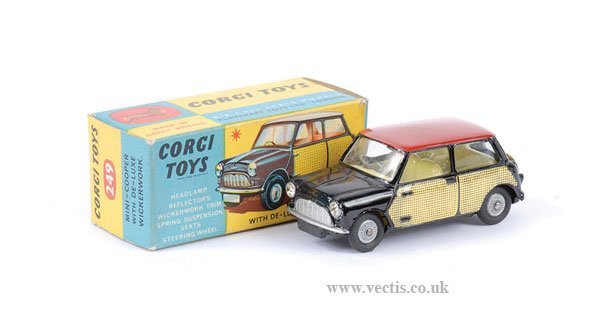 "2012: Corgi No.249 Morris Mini Cooper ""Wickerwork"""