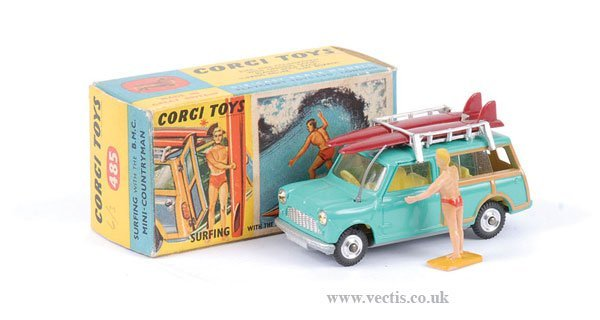 "2019: Corgi No.485 Austin Mini Countryman ""Surfing"""