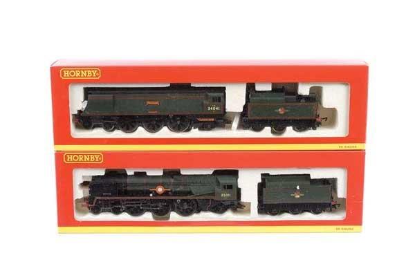 4014: Hornby - 2 x 4-6-2 BR (SR) Green Steam Locos
