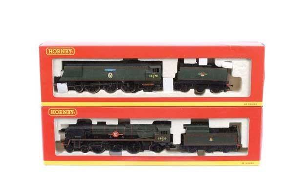 4015: Hornby - 2 x 4-6-2 BR (SR) Green Steam Locos