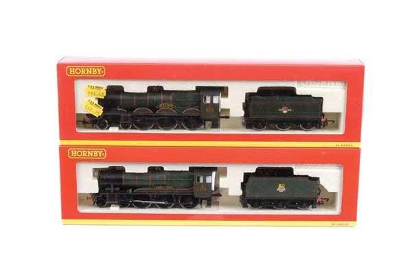 4019: Hornby - 2 x 4-6-0 BR (WR) Green Steam Locos