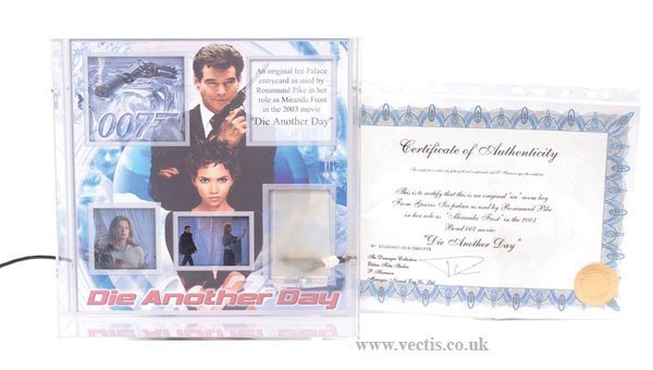 223: James Bond prop Ice Palace Entry Card