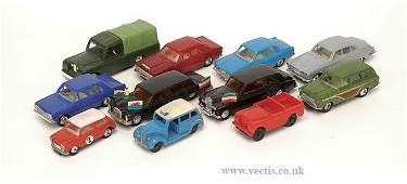 567 Blue Box and Other 143rd scale British Cars
