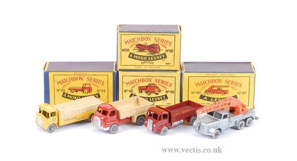 1014: Matchbox No.20a ERF Stake Truck & Others