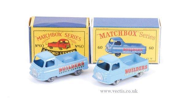 1015: Matchbox No.60a Morris J2 Pick-up x 2