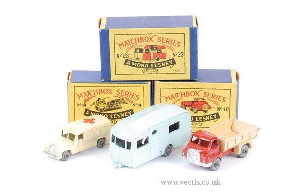 """1016: Matchbox No.14a Daimler """"Ambulance"""" & Others"""