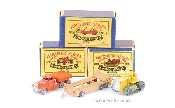 1019: Matchbox No.8a Caterpillar Tractor & Others