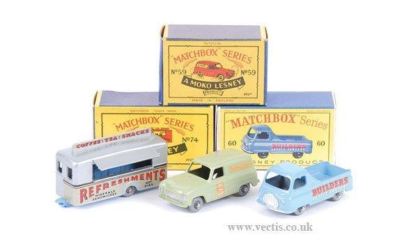 "1022: Matchbox No.59a Thames ""Singer"" Van & Others"