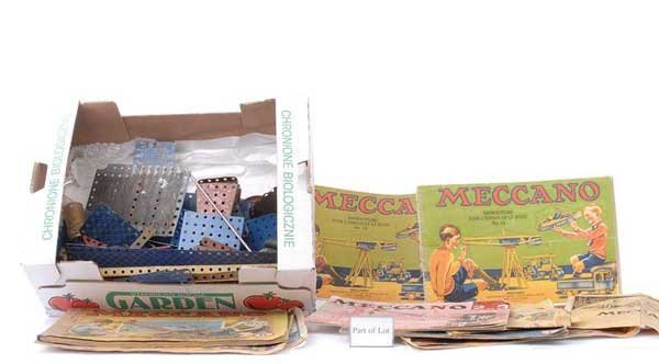 4024: Meccano - Blue, Gold, Red & Other Components
