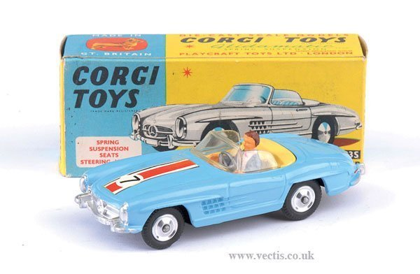 2259: Corgi No.303S Mercedes Benz 300SL Roadster