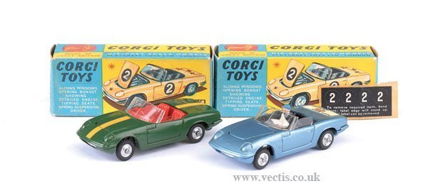 2277: Corgi No.318 Lotus Elan x 3