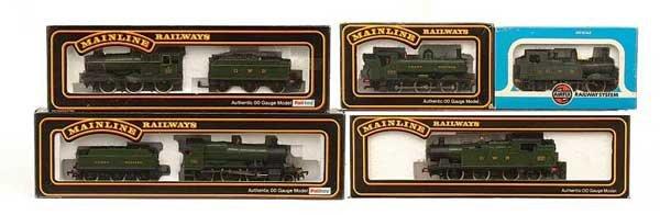 1003: OO Gauge GWR Green Steam Locos
