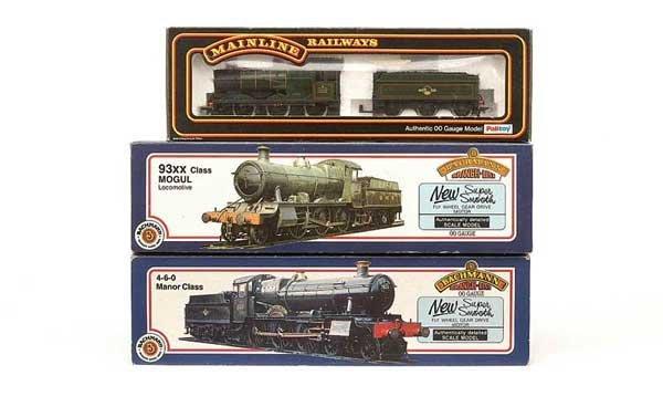 1016: OO Gauge - 3 x BR (WR) Green Steam Locos